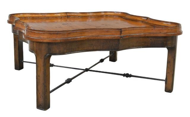 LARGE WOODLAND FURNITURE BRANDYWINE COCKTAIL TABLE