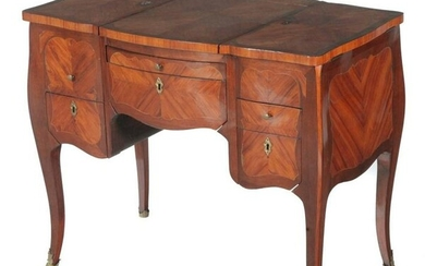 LOUIS XV STYLE DRESSING TABLE WITH MARQUETRY INLAY
