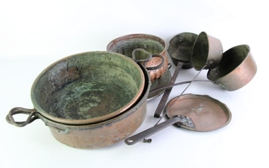 Large Collection of Vintage Copper Wares inc Pots, Pans And Warmers