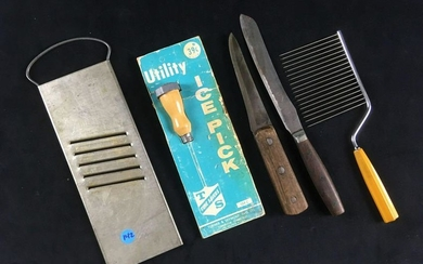 Lot of 5 Vintage Kitchen Utensils