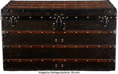 Louis Vuitton Damier Ebene Coated Canvas Steamer Trunk Condition:...