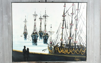 MCM Harbor and Tall Ships Painting