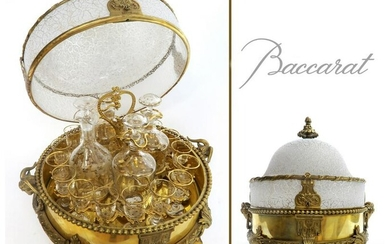 Magnificent Figural Bronze & Crystal Tantalus By DEPOSE