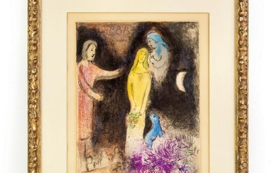 Marc Chagall 1887-1895 SIGNED Daphnis Lithograph
