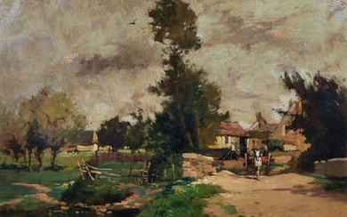 Maurice Levis (1860-1940) French. A River Landscape