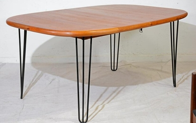 Mid Century Dining Table by Drylund on Pin Legs