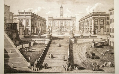 Morelli, Francesco: FRONT VIEW OF THE CAPITOL IN ROME
