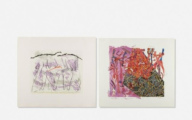 Nancy Graves, Calibrate and Ruis (two works)