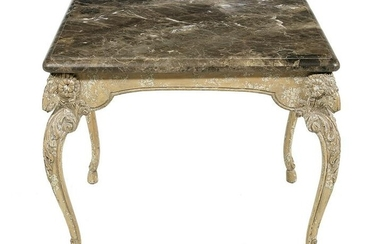 Neoclassical-Style Marble-Top Center Table