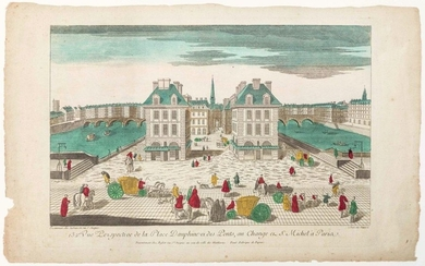 """PARIS. """"132nd Perspective View of Place Dauphine and..."""