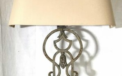 Pair Of Cast Iron Belgian Wall Lights W Shades