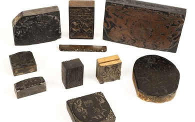 Printers block. A collection of 18th century printers blocks