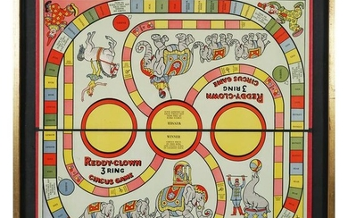REDDY CLOWN 3-RING CIRCUS Game, Framed