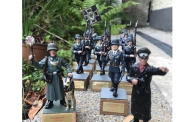 Rare Collection of German WW2 Tin Soldiers, Origin Spanish. ...