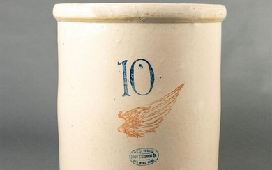 Red Wing Stoneware 10 Gallon Wing Crock
