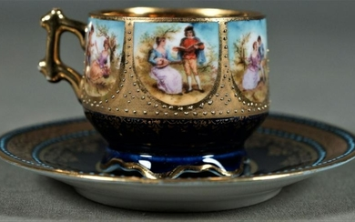 Royal Vienna Cup And Saucer Demitasse