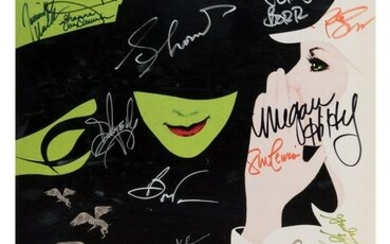"Rue McClanahan's Cast Signed ""Wicked"""