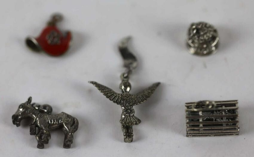 STERLING SILVER CHARM GROUPING