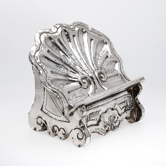 Spanish lectern in silver, probably 19th Century.