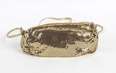WHITING & DAVIS METAL MESH PURSE 80s A gilded metal...