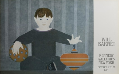 Will Barnet, The Red Top, Poster on baord