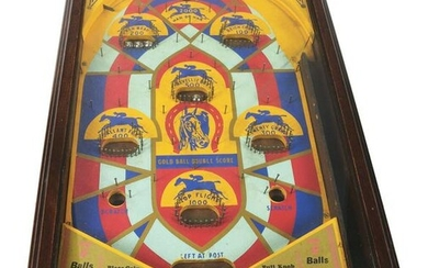 "1¢ HORSE RACE ""DERBY"" PINBALL GAME."