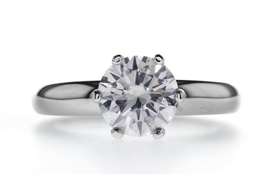 14 kt. White gold - Ring - 2.00 ct Diamond - D/SI1