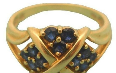 14kt Yellow Gold Blue Sapphire Ring