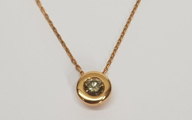 18 kt. Pink gold - Necklace with pendant - 0.51 ct Diamond
