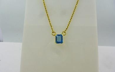18 kt. Yellow gold - Necklace - 5.00 ct Topaz