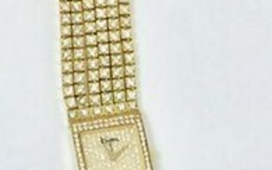 18k Yellow Gold BIJAN Ladies watch w/16ct Diamonds 25