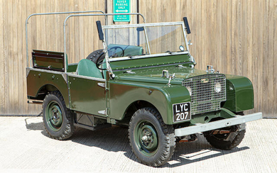 1949 Land Rover Series I 80 Inch, Chassis no. R06103874