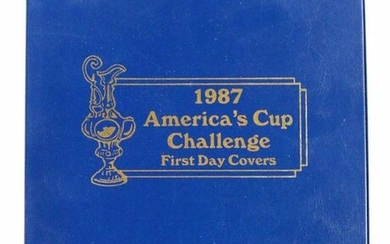 1987 AMERICA'S CUP CHALLENGE FIRST DAY COVER BOOK