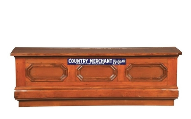 8.5' COUNTRY MERCHANT 5¢ CIGAR COUNTRY STORE COUNTER.
