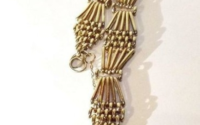 """9ct Yellow Gold Chain With Lock Pendant """"C.D.B"""""""