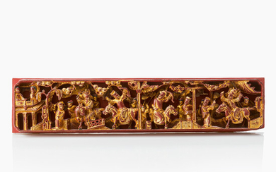 A Chinese Gilt lacquer plaque