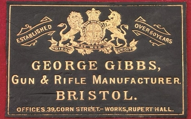 A GEORGE GIBBS MATCH RIFLE CASE, 48inches over all, the