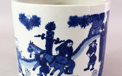 A GOOD 19TH / 20TH CENTURY CHINESE BLUE & WHITE