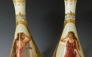 A LARGE PAIR OF ROYAL VIENNA VASES