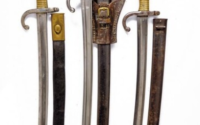 A LOT OF THREE 1866 MODEL BAYONETS