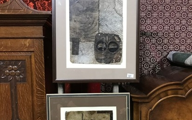 A Pair of unusual art works. Possibly art work done on anima...