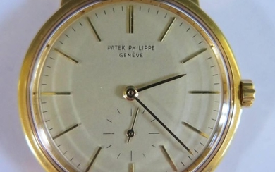 A Patek Philippe 18ct Gold Gent's Automatic Wristwatch on Pa...