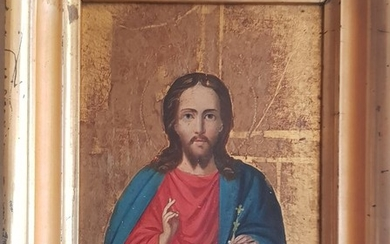 A Russian Icon of Christ Pantocrator, begining of 20th century.