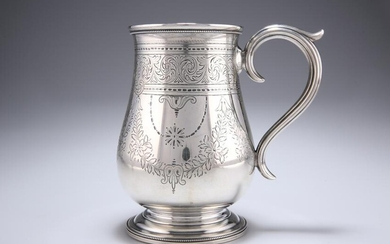 A VICTORIAN EXETER SILVER TANKARD, by Josiah Williams &