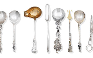 A collection of British and Continental silver flatware