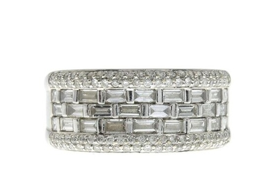 A diamond band ring.Estimated total diamond weight 1.50cts,...