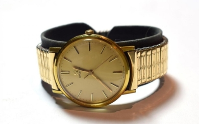 A gent's gold plated Omega wristwatch, circa 1975