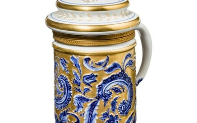 A large and magnificent French jug with porcelain lid