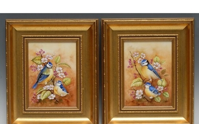 A pair of rectangular porcelain plaques by Peter Gosling, si...