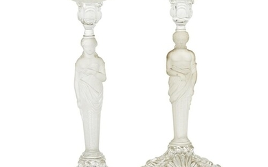 ATTRIBUTED TO BACCARAT, A PAIR OF 20TH CENTURY BACCARAT FROS...